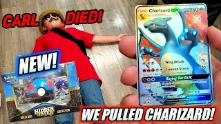 WE PULLED ULTRA RARE CHARIZARD FROM THE NEW HIDDEN FATES POKEBALL COLLECTION POKEMON CARDS BOX!