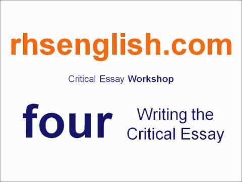 Higher English � Finishing your critical essay | myetutor limited > Blog