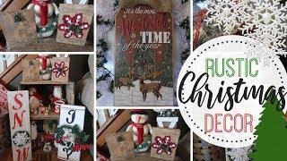DIY Dollar Tree Farmhouse Christmas Decor | Rustic Christmas Decor DIY | GoGirl Planner
