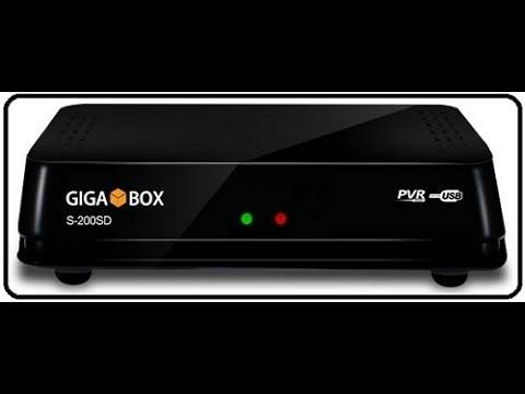 ATUALIZAÇÃO GIGABOX S200 SD DIA 21 DE JANEIRO DE 2018