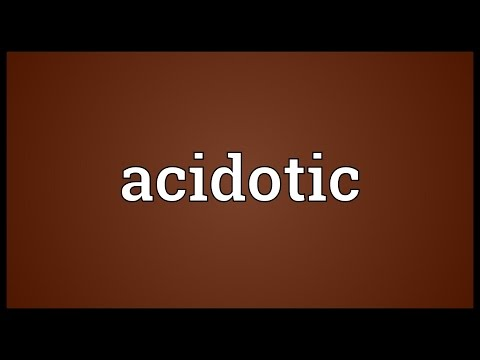 Header of acidotic