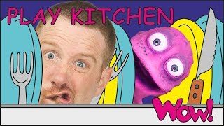 Play Kitchen for Alien Kids | Stories for Children | Steve and Maggie with Bobby | Wow English TV
