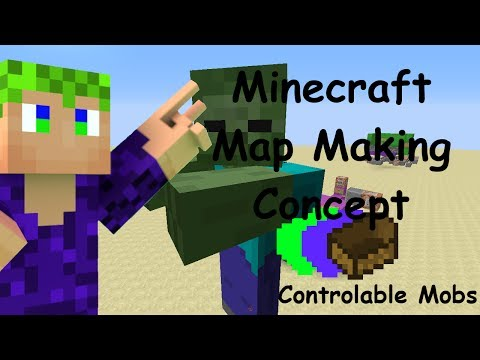 Control Mobs in Vanilla Minecraft Map Making Concept 1.8+