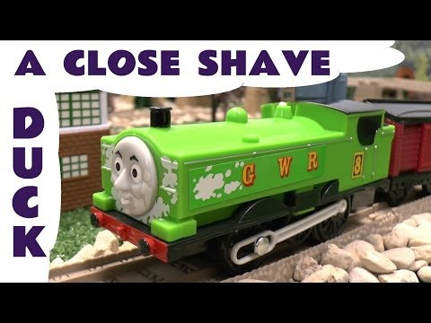 New Thomas And Friends Trackmaster Duck's Close Shave Thomas Tank Toy Train Tomy Takara Comp video