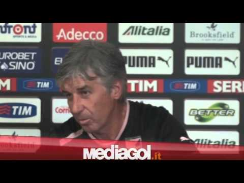 (2/2)Gian Piero Gasperini in conferenza verso Bologna-Palermo - 13/11/2012 - Mediagol.it