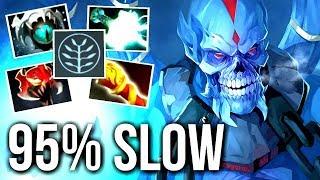 WTF CAN'T RUN 95% SLOW Skadi Lich Carry vs Cancer Lancer by AdmiralBulldog Meta Gameplay Dota 2
