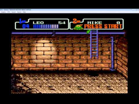 Misc Computer Games - Teenage Mutant Ninja Turtles 2 The Arcade Game - Scene 2
