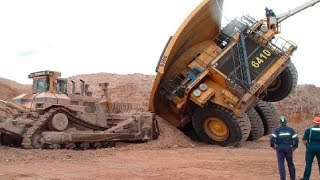 World Dangerous Dump Truck Operator Skill - Biggest Heavy Equipment Machines Working