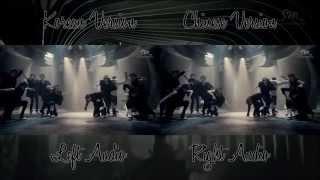 EXO Wolf Korean Chinese MV Comparison