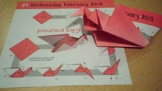 Pleated Bird - Origami
