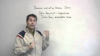 Slang in English - Many meanings of JOHN