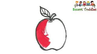 Kids Drawing || ☆APPLE☆ || Coloring FOR Creative kids,Children,Toddlers ❤❤❤ #05