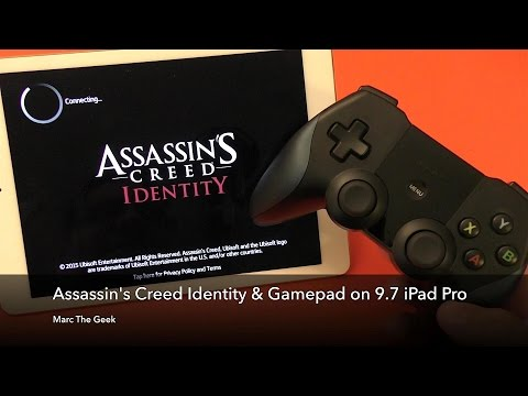 Assassin's Creed Identity & Gamepad on 9.7 iPad Pro