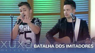 Confira a Batalha dos Imitadores no palco da Xuxa