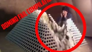 DEPRESSING DOMINO BUILDING FAIL COMPILATION 2017