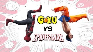 Spiderman VS Goku In Real Life (Parkour, Marvel, Dragon Ball)