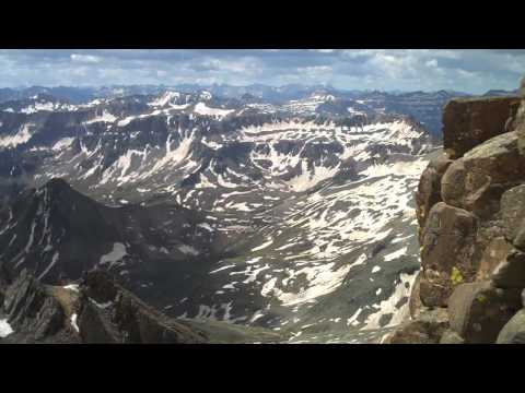"Mt. Sneffels is one of the ""14ers"" of Colorado. A really awesome hike up with a bit of climbing at the end. In June there is still snow in a few places so cr..."