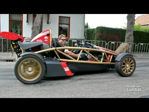 Ariel Atom w/ Supercharger (400+ bhp) Launch control + afterburn !! - 1080p HD