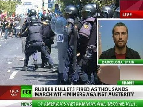 'Madrid miner crackdown will fuel Spanish protests'