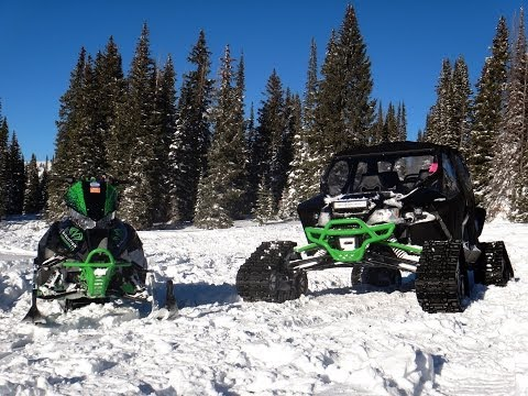 Arctic Cat Wildcat Turbo Powder Blasting Camoplast Evolution PowerSports Yeti