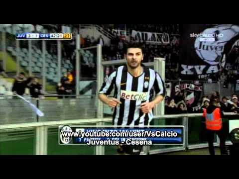 Juventus - Cesena 3-1 Il gol di Iaquinta