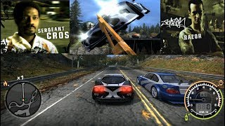 NFS MW [Cross Corvette vs Razor]+[Final Pursuit with Cross]