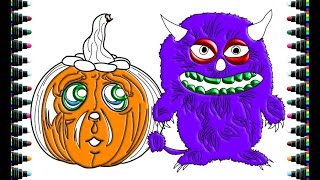 Color for kids - How to Draw Monsters and Halloween Pumpkins - be yeu