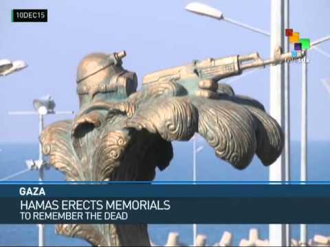 Palestine: Hamas Erects Memorials to Mark Strikes at Israel