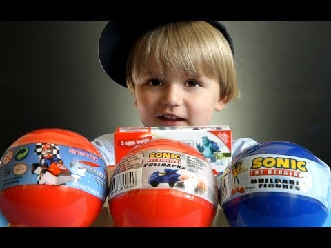 Mario Kart DS - Sonic The Hedgehog pullbacks - Kinder Surprise Monsters University - VIDEO