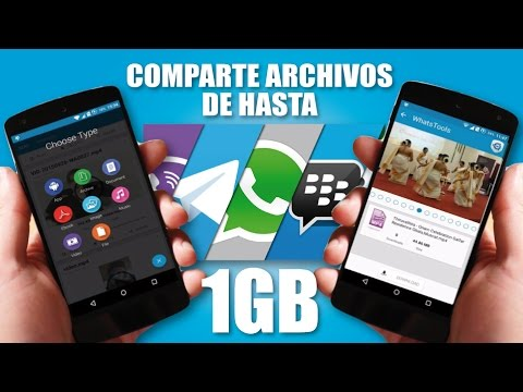 VIDEO: COMO ENVIAR ARCHIVOS DE MÁS DE 1GB POR WHATSAPP
