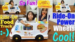 Food Truck Toy. Kitchen Playset Playtime. Food Truck Seller Pretend Play. Food Truck Power Wheels