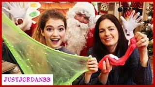 Santa's Bag Slime Making! / JustJordan33