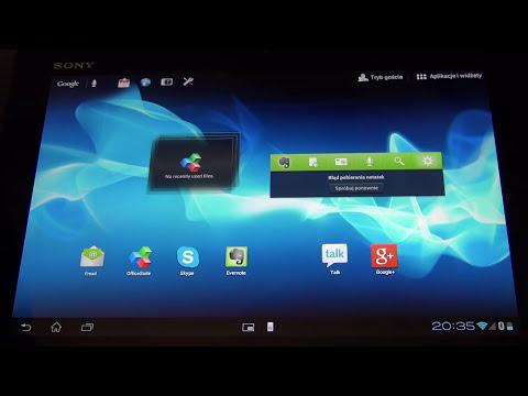 Sony Xperia Tablet S recenzja, prezentacja, test, opinia, review.
