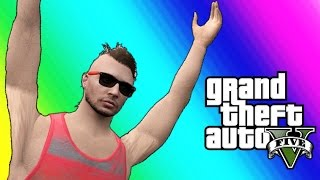 GTA 5 Online Funny Moments - Golf Carts & Car Flying Glitch!