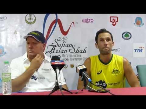 Australia 7 beat Canada 0. Mens hockey at the Azlan Shah Cup in Ipoh