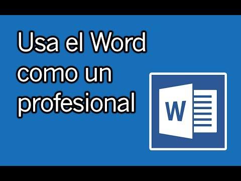 Haz trabajos, tesis, documentos profesionales y más con WORD