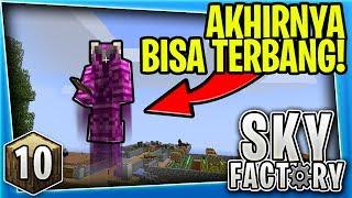 AKHIRNYA BISA TERBANG!😱  - Minecraft SkyFactory Survival [10]