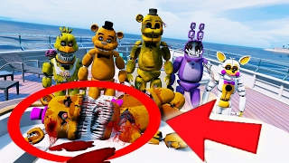 WHO KILLED NIGHTMARE FREDBEAR? ANIMATRONICS YACHT MURDER MYSTERY (GTA 5 Mods FNAF Funny Moments)