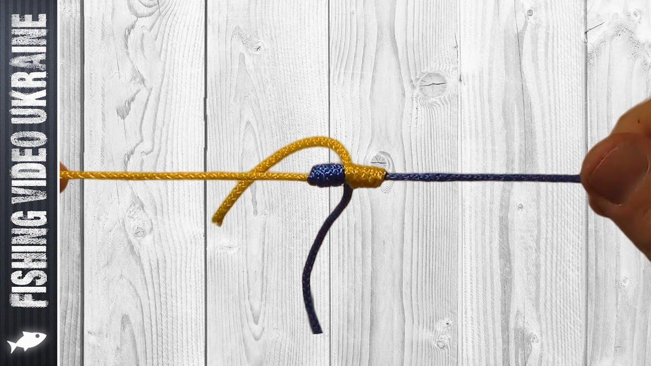 соединение плетеного шнура и лески