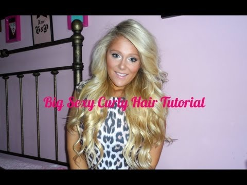 Big Sexy Curly Hair Tutorial: featuring Luxury For Princesses Hair Extensions!