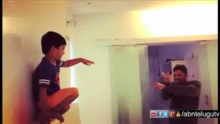 Allu Arjun Making Fun with his son Ayaan | Priya Prakash Varrier Style