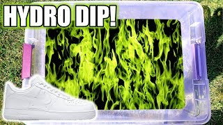 Hydro Dipping AIR FORCE 1's In GREEN FLAMES!!