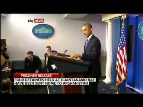 Breaking News December 2014 USA free 4 Guantanamo prisoners flew home to Afghanistan