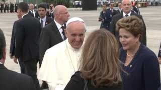 Chegada do Papa à BAGL
