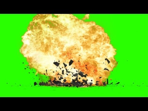 Explosion With Debris - Green Screen Effects video