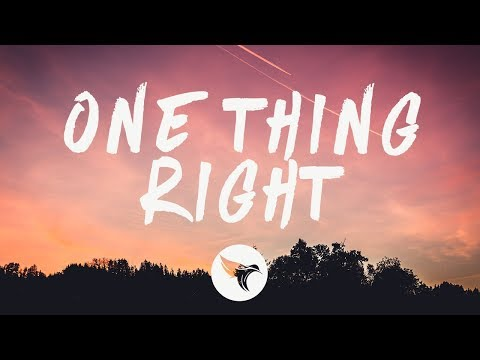 Marshmello & Kane Brown - One Thing Right (Lyrics)