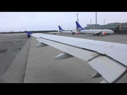 Scandinavian Airlines A320 Super Steep Morning Takeoff from Oslo, Gardermoen (OSL/ENGM) [HD]