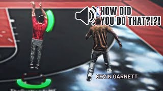 kevin garnett trying to figure out how to play on the park is pure comedy