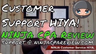 NINJA CPA Review Customer Support Email | CPA Exam NINJAs
