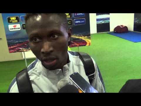 Roma Feyenoord: Mapou Yanga Mbiwa in mixed zone